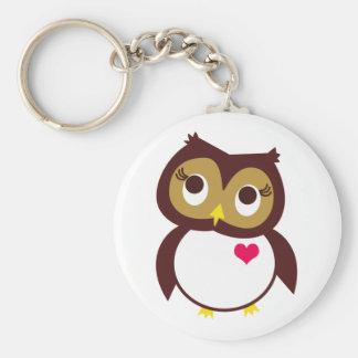 Whoo vous aime porte-clé rond