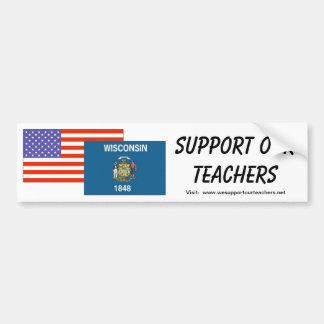 WI--Soutenez nos professeurs Autocollant De Voiture