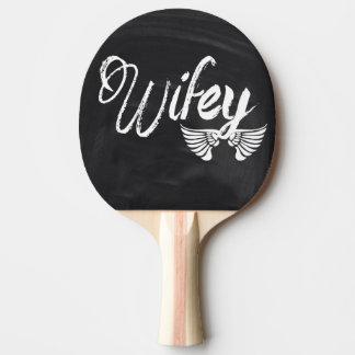 Wifey de tableau de lune de miel de Mme Biker Raquette Tennis De Table