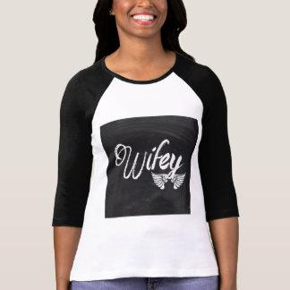 wifey mignon moderne de lune de miel t-shirt