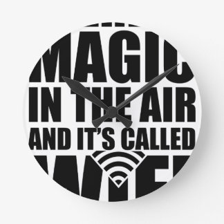 Wifi magique horloge ronde