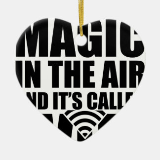 Wifi magique ornement cœur en céramique