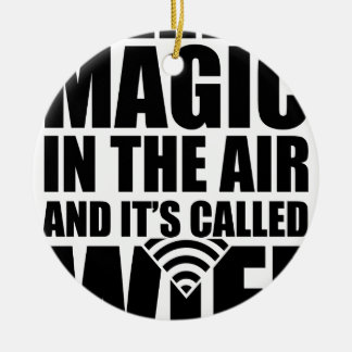 Wifi magique ornement rond en céramique
