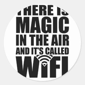 Wifi magique sticker rond