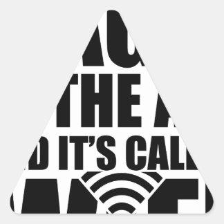 Wifi magique sticker triangulaire