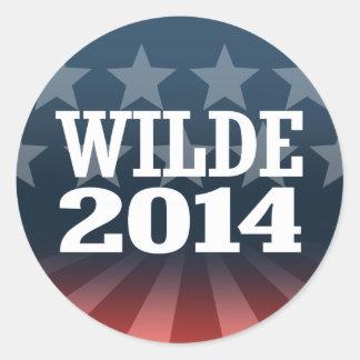 WILDE 2014 AUTOCOLLANT ROND