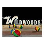 Wildwoods signent dedans le New Jersey de Wildwood Carte Postale