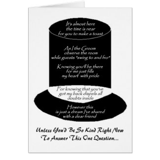 """""""Will You Be My Best Man"""" Card Greeting Card"""