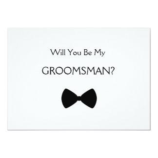 Will you voit my groomsman ? carton d'invitation  12,7 cm x 17,78 cm