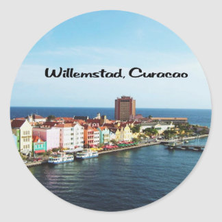 Willemstad Curaçao Sticker Rond