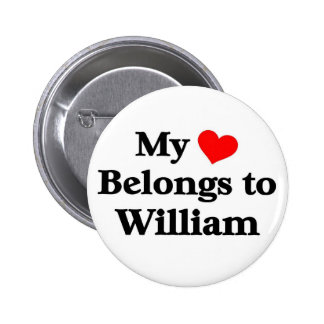 William a mon coeur pin's avec agrafe