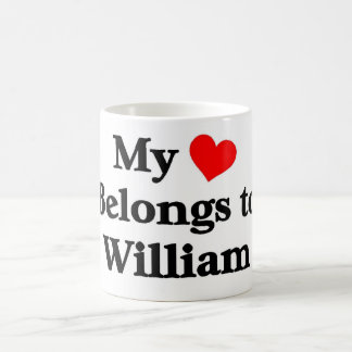 William a mon coeur mug blanc