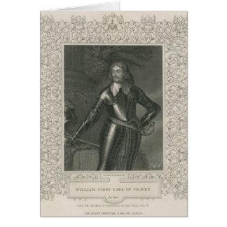 William Craven, ęr comte de Craven Carte De Vœux