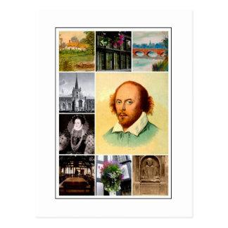 William Shakespeare et Stratford-sur-Avon Carte Postale