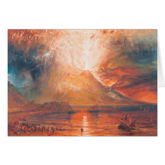 William Turner le Vésuve dans l'art de waterscape Cartes De Vœux