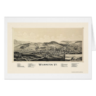 Wilmington, carte panoramique de VT - 1891