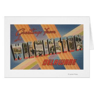 Wilmington, Delaware - grandes scènes de lettre Carte De Vœux