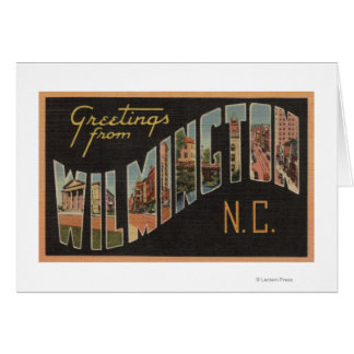 Wilmington, la Caroline du Nord - grandes scènes Carte De Vœux