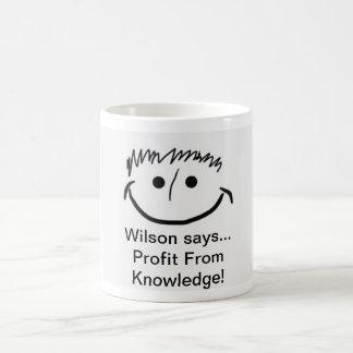Wilson indique le bénéfice inspiré de la mug
