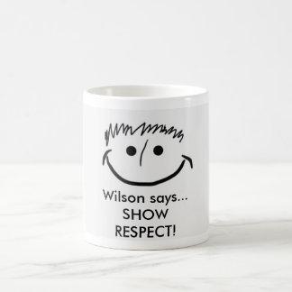 Wilson indique le RESPECT d'EXPOSITION inspiré de Mug