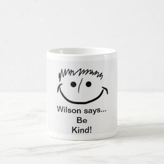Wilson indique qu'inspiré soyez aimable ! mug