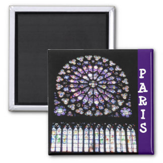 Windows de Notre Dame Magnet Carré