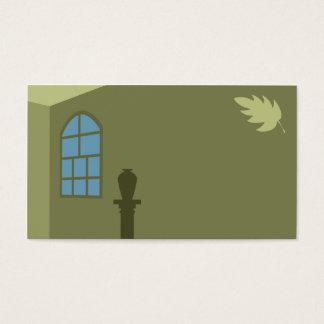 Windows et carte de visite de feuille