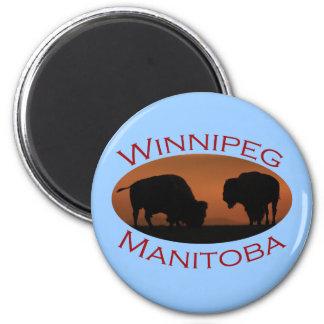 Winnipeg, Manitoba Magnet Rond 8 Cm