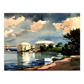 Winslow Homer - bouilloire de sel, Bermudes Carte Postale
