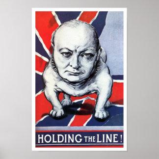 Winston Churchill -- Tenir la ligne Posters