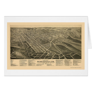 Winston-Salem, carte panoramique d'OR - 1891