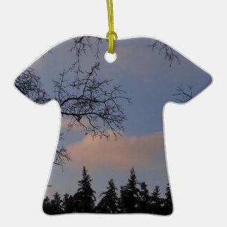 WinterSky Ornement T-shirt En Céramique