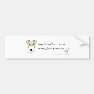 WireFoxTerrierBrotherYellow Autocollant Pour Voiture