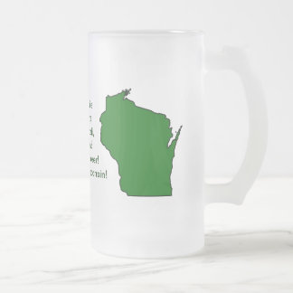 Wisconsinite soutient le football, le fromage et frosted glass beer mug