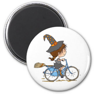 Witch in bike - magnet
