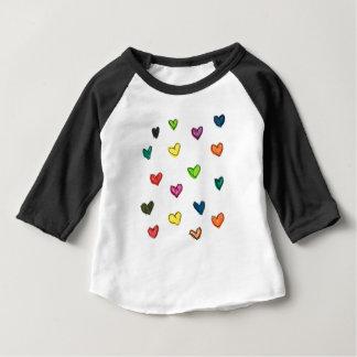 WITH_LOVE : Motif de coeur de Colorfull T-shirt Pour Bébé