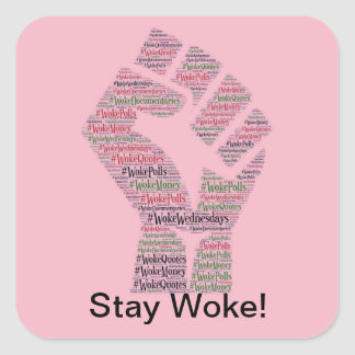 #WokeWednesdays Sticker Carré