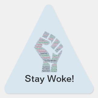 #WokeWednesdays Sticker Triangulaire