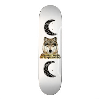 Wolf and Tribal Moon Skateboards