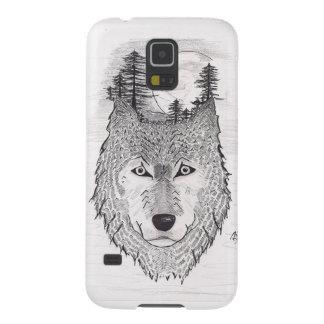 Wolf Coque Pour Samsung Galaxy S5