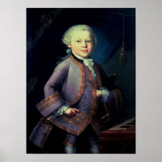 Wolfgang Amadeus Mozart, 1763 Posters