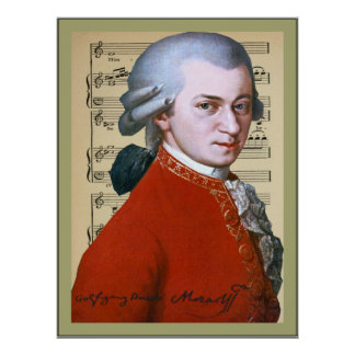Wolfgang Amadeus Mozart Affiches