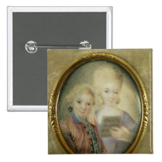 Wolfgang Amadeus Mozart et sa soeur Badges