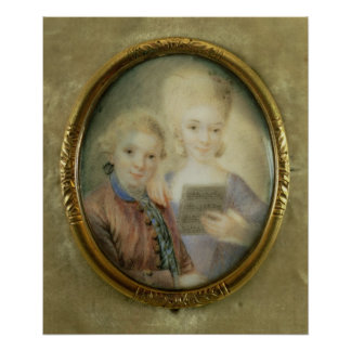 Wolfgang Amadeus Mozart et sa soeur Posters