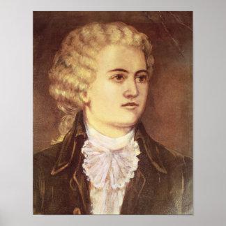 Wolfgang Amadeus Mozart pendant son séjour Affiches