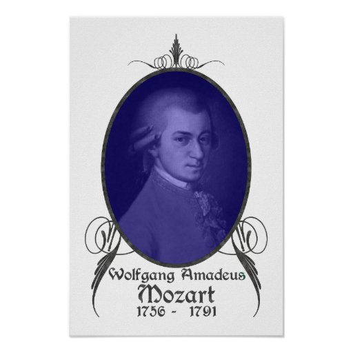 Wolfgang Amadeus Mozart Affiches