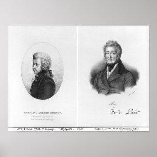 Wolfgang Amedeus Mozart et Ferdinando Paer Affiches