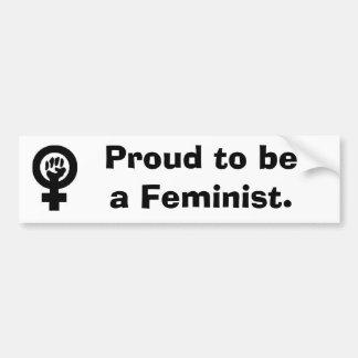 WomanFist, fier d'être un féministe Autocollant Pour Voiture