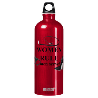 WOMEN RULE MEN SERVE SIGG TRAVELER 1.0L WATER BOTTLE