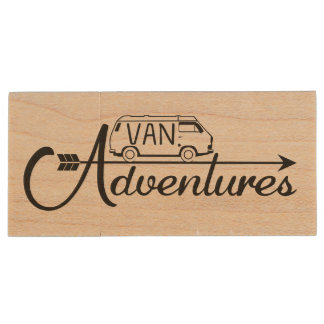 Wood USB Key Van Adventure Clé USB